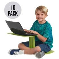 ECR4Kids The Surf Portable Lap Desk, Laptop Stand, Writing Table, Kids' Travel-Friendly Tray, Flexible Collaborative Seating for Teens and Adults, GREENGUARD [Gold] Certified, Green (10-Pack)