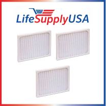 LifeSupplyUSA 3 Pack Replacement Filter Compatible with Hunter 30920 30905 30050 30055 30065 37065 30075 30080 30177