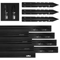 Dreamscape PRO Aluminum Landscape Edging - Easy Install Professional Landscaping Border - 10 Strips, 8ft Each (80ft Total) - Black Anodized - Metal Divider for Lawn, Garden, Flowerbed