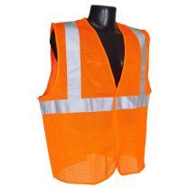 Radians SV2OM5X Class 2 Mesh Safety Vest, Orange, 5 Extra Large
