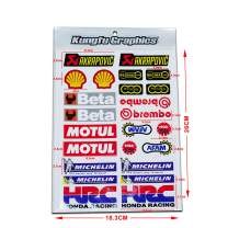 Kungfu Graphics Micro Sponsor Logo Racing Sticker Sheet Universal (7.2X 10.2 inch), MSS (41)