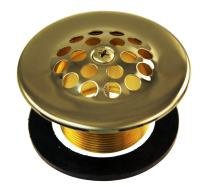 """Westbrass 1-3/8"""" Bath Drain with Grid and Screw, Polished Brass, D3311-F-03"""