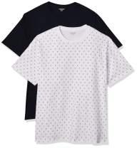 Amazon Essentials Men's Standard Big & Tall 2-Pack Short-Sleeve Crewneck T-Shirt Fit by DXL
