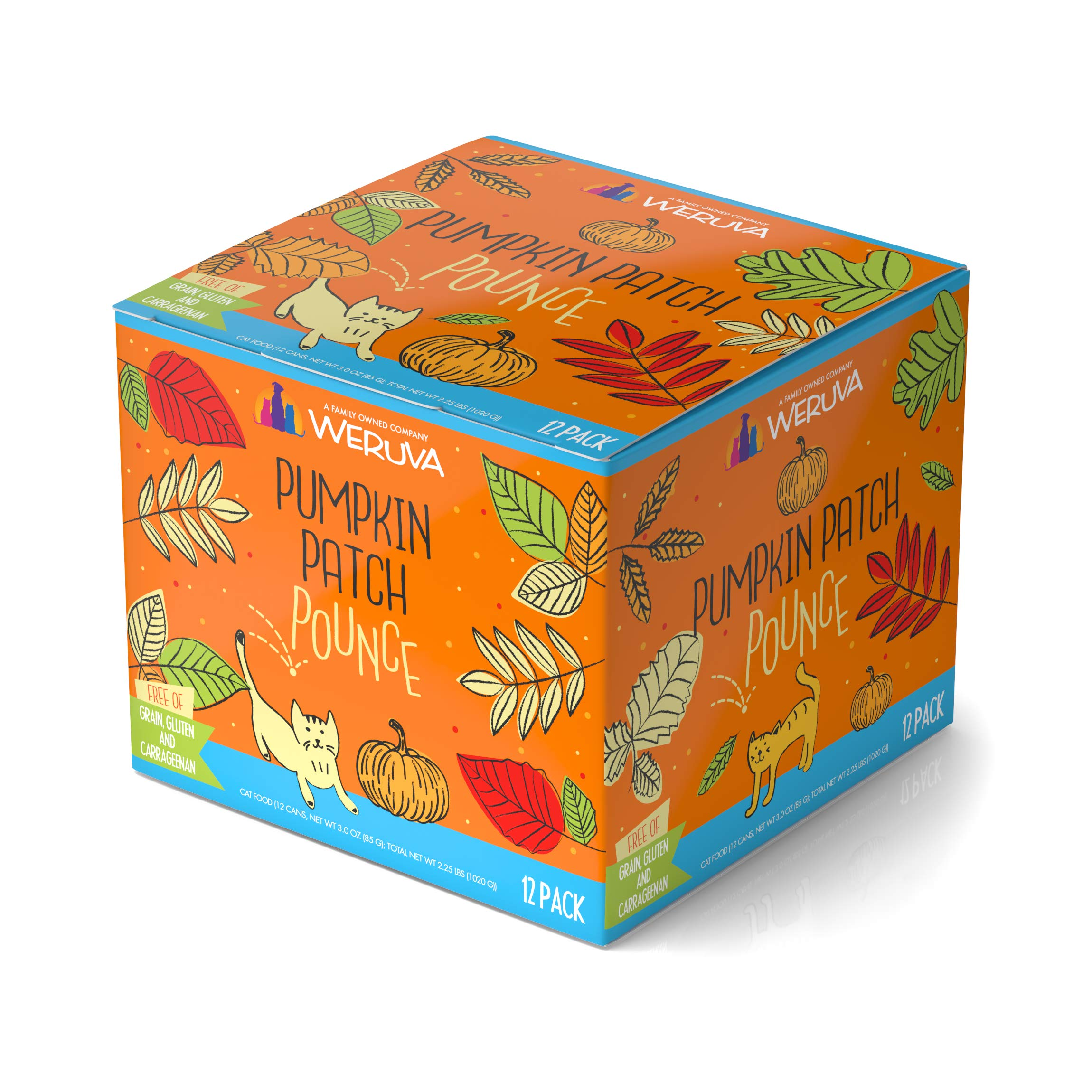 Weruva Classic Cat Food, Pumpkin Patch Pounce Variety Pack, 3oz Can (Pack of 12)