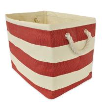 """DII, Woven Paper Storage Bin, Collapsible, 17x12x12"""", Rugby Tango Red"""