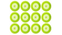 """12ct Green Reusable Plastic Paper Plate Holder for 9"""" Plates, Bright Summer Fun Colors for Picnic, BBQ, Parties, & Camping"""