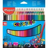Maped Color'Peps Triangular Colored Pencils, Assorted Colors, Pack of 48 (832048ZV)