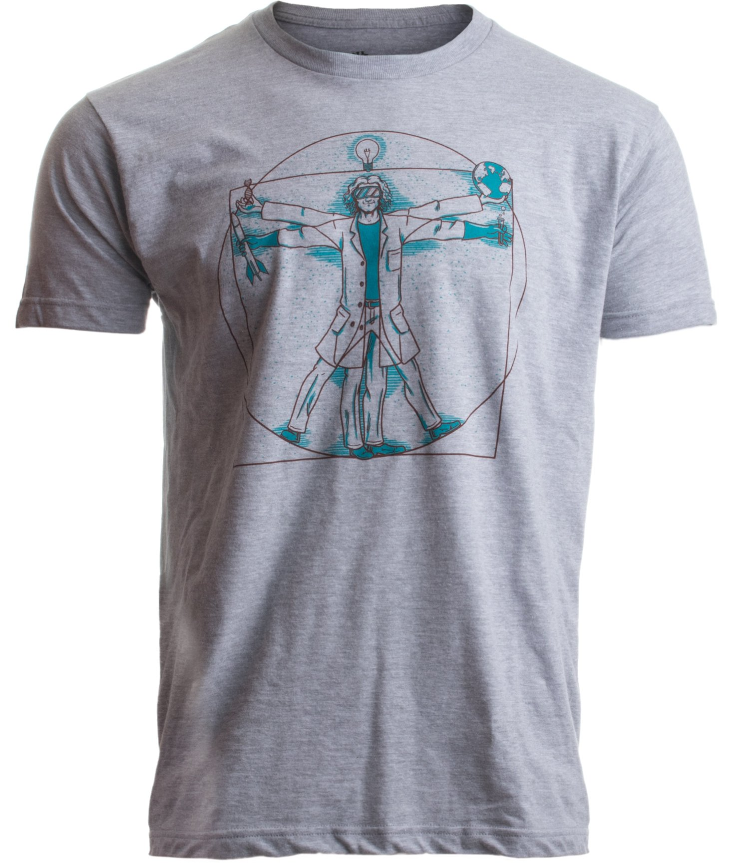 Vitruvian Scientist | Funny Cool Science Nerd Nerdy Geek Geeky Men Women T-Shirt