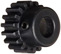 """Martin S2023 Spur Gear, 14.5° Pressure Angle, High Carbon Steel, Inch, 20 Pitch, 3/8"""" Bore, 1.25"""" OD, 0.375"""" Face Width, 23 Teeth"""