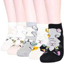 DearMy Womens Funny Design Casual Cotton Crew Socks | Art Patterned| Gifts for Women and Girls(Boys)