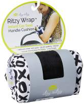 Itzy Ritzy Car Seat Handle Cushion – Foam Padding Alleviates Inner Arm Pain From Carrying an Infant Car Seat; Includes Two Toy Loops to Keep Baby Entertained, XOXO