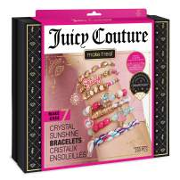 Make It Real – Juicy Couture Crystal Sunshine Bracelets - DIY Charm Bracelet Kit for Teen Girls - Jewelry Making Supplies with Beads and Charms with Swarovski Crystals