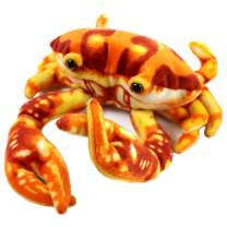 Houwsbaby Small Plush Crab Summer Stuffed Animal Soft Realistic Oceanic Toy Beach Kids Birthday Gift for Kids Boys Girls Huggable Pillow Holiday, Red, 8''