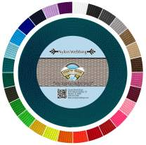 Country Brook Design | Durable 1 Inch Heavy Nylon Webbing | 28 Vibrant Colors (Teal, 50 Yards)