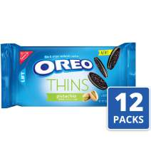 Oreo Thins Sandwich Cookies, Pistachio Creme Chocolate, 10.1 Ounce, 12 Count