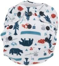 Thirsties Natural Newborn All in One Cloth Diaper, Snap Closure, Adventure Trail (5-14 lbs)