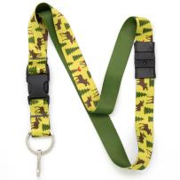 Buttonsmith Moose Woods Premium Breakaway Lanyard - Safety Breakaway, Buckle and Flat Ring - Made in USA