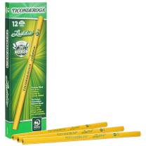 TICONDEROGA Laddie Pencils, Wood-Cased #2 HB Soft without Eraser, Yellow, 12-Pack (13040)