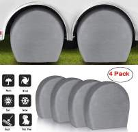 """ACUMSTE Set of 4 RV Tire Covers, Tire Covers for RV Wheel Motorhome Wheel Covers Waterproof UV Coating Tire Protectors for Trailer Truck Camper Auto Fits 32"""" - 34"""" Tire Diameters"""