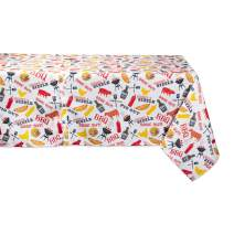 DII CAMZ11191 Spring & Summer Outdoor Tablecloth, Spill Proof and Waterproof with Zipper and Umbrella Hole, Host Backyard Parties, BBQs, Family Gatherings, 60x120 w, Barbeque