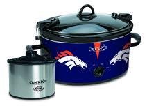 Crock-Pot Denver Broncos NFL Cook & Carry Slow Cooker with Bonus 16-ounce Little Dipper Food Warmer