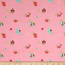 Riley Blake Designs Riley Blake Butterflies & Berries Toss Butterflies Pink Fabric by The Yard