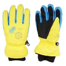 TRIWONDER Kids Ski Snow Gloves Winter Cold Weather Windproof Warm Snowboard Sport Mittens for Boys Girls