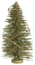 Creative Co-op Green Bottle Brush Tree with Moss Finish