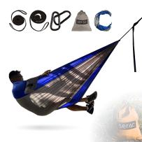 Serac [Durable Hammock & Strap Bundle Classic Portable Single Camping Hammock with Suspension System - Perfect for The Backpack, Travel and Camping