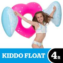 BigMouth Inc. Kiddo Float, Inflatable Angel Heart Pool Tube with Wings, Durable, and Safety-Tested Vinyl
