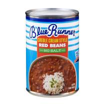 Blue Runner—Creole Cream Style Red Beans 16 oz Can (Pack of 12)—No Salt Added—Slow Cooked and Authentic Creole Kidney Beans