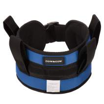 COW&COW Padded Gait Belt with 4 Handles and Quick Release Buckle 5.5 inchs(Blue, S/24inches-30inches)