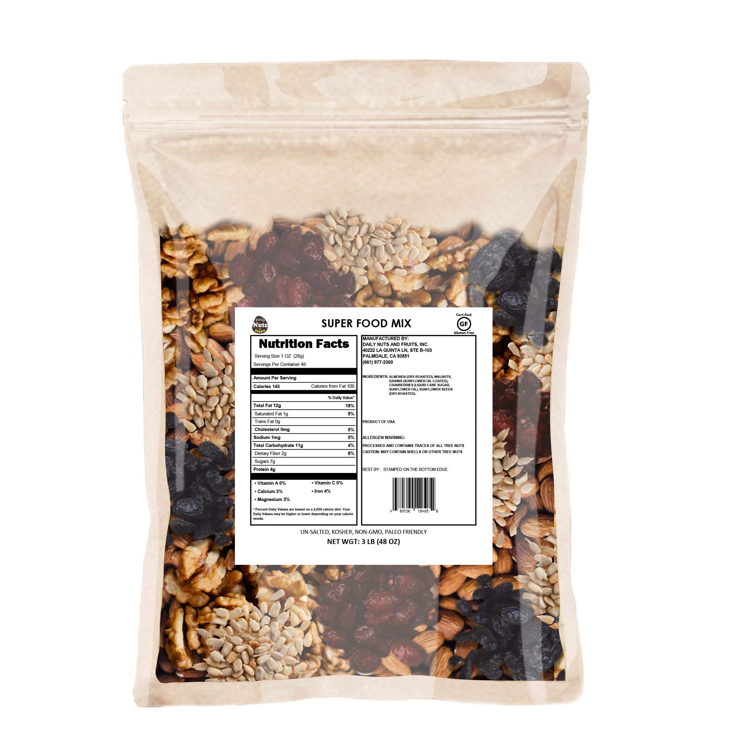 Daily Nuts Healthy Mix Bulk (U.S. Super Food Mix, 48 OZ)