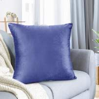 """Nestl Bedding Throw Pillow Cover 26"""" x 26"""" Soft Square Decorative Throw Pillow Covers Cozy Velvet Cushion Case for Sofa Couch Bedroom - Calm Blue"""