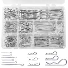 280PCS Cotter Pin Hair pin Assortment, GTERNITY Zinc Plated Steel Cotter Pin Hair pin and R Clips Fastener Assortment Kit, 12 Sizes