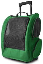 Paws & Pals Rolling Backpack Travel Pet Carrier for Cats Dogs Rabbits and Ferrets