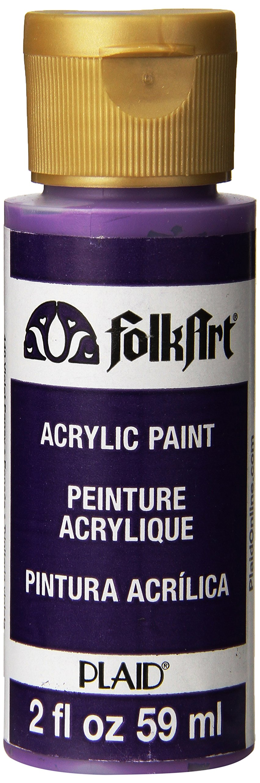FolkArt Acrylic Paint in Assorted Colors (2 oz), 440, Violet Pansy