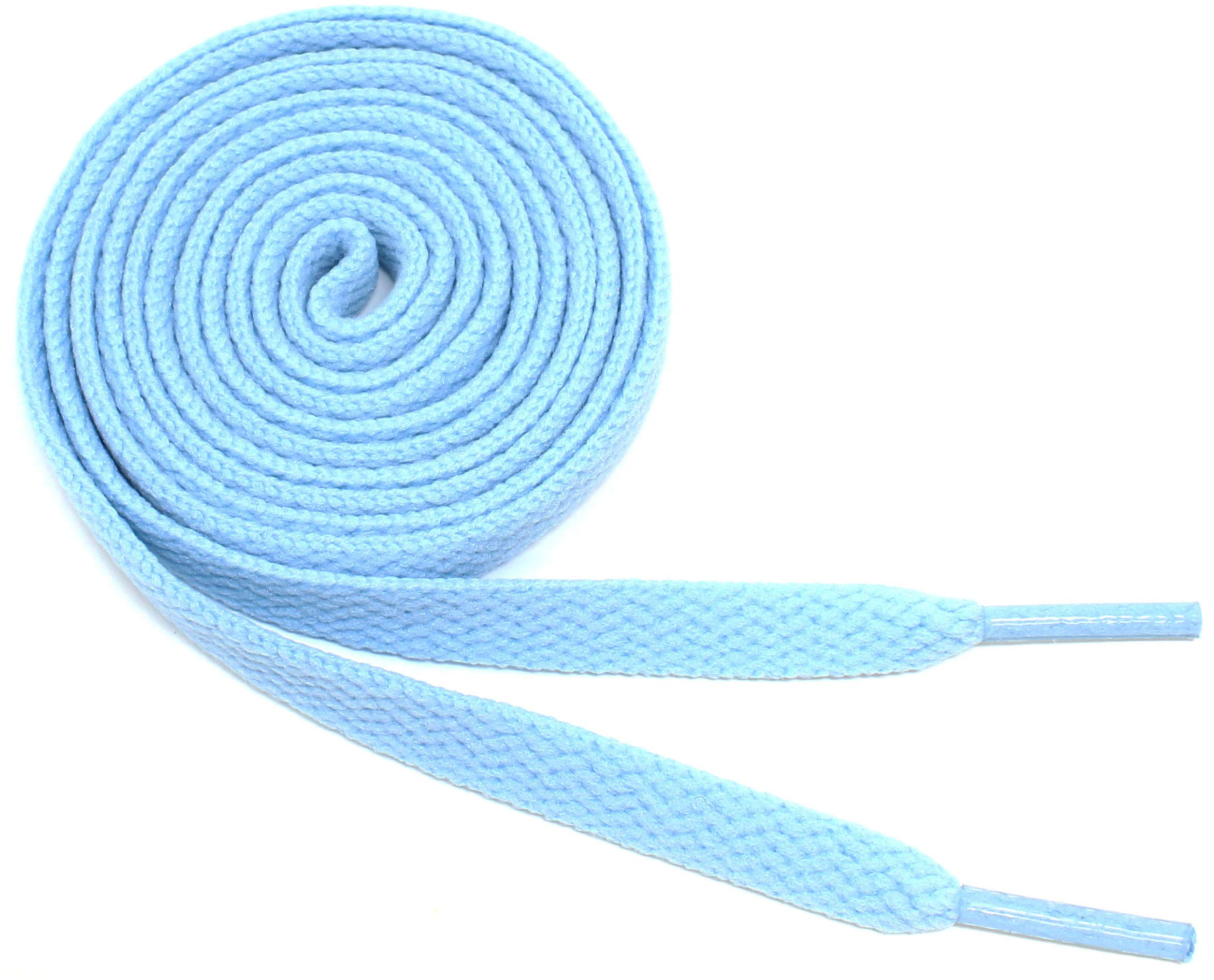 """Flat Shoelaces 5/16"""" Wide Solid Colors - 27""""-72"""" Lengths Athletic Sneakers Shoes & Boots"""