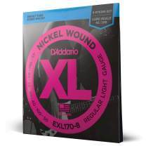 D'Addario EXL170-8 8-String Nickel Wound Bass Guitar Strings, Light, 32-130, Long Scale