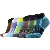 Cushion Athletic No Show Low Cut Ankle Running Socks for Men and Women Moisture Wicking