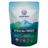 Aspen Naturals Organic Spirulina Powder - 32 OZ - California Grown, USDA Organic, Non GMO, Nutrient Dense Superfood, 100% Pure, Vegan Plant Based Protein Supplement