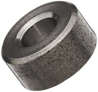 """Round Spacer, 18-8 Stainless Steel, Plain Finish, #10 Screw Size, 3/8"""" OD, 0.192"""" ID, 9/16"""" Length, Made in US (Pack of 5)"""