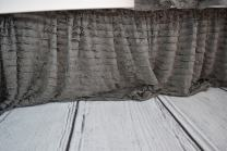 Gray Ruffled Crib Bed Skirt Dust Ruffle, Luxury Bedding Baby Girl and Boy, Rustic, Woodland, Modern, Farmhouse, Boho Style Nursery and Toddler Bedroom Box Spring Cover