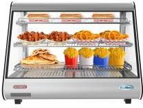 "KoolMore 34"" Stainless Steel Commercial Countertop Food Warmer Display Case with LED Lighting - 5.6. cu ft."