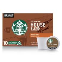 Starbucks Medium Roast K-Cup Coffee Pods — House Blend for Keurig Brewers — 1 box (10 pods)