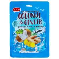 Pocas Hard Candy, Coconut & Ginger, 100 Gram (Pack of 2)