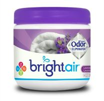 Bright Air Solid Air Freshener and Odor Eliminator, Lavender and Fresh Linen Scent, 14 Ounces (900014)