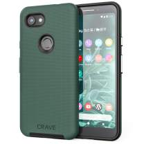 Crave Pixel 3a Case, Crave Dual Guard Protection Series Case for Google Pixel 3a - Forest Green
