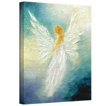 Art Wall Angel Gallery Wrapped Canvas Art by Marina Petro, 32 by 24-Inch