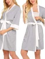 Ekouaer Maternity Nursing Robe Delivery NightgownsHospital Breastfeeding Gown